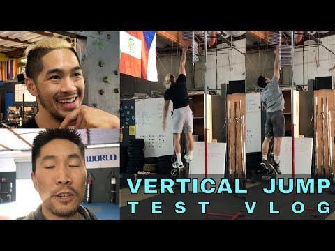VERTICAL JUMP TEST VLOG (feat Josh & Donny)