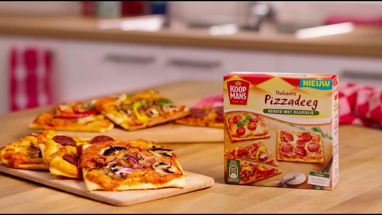 Pizzas Van Italiaans Pizzadeeg Youtube