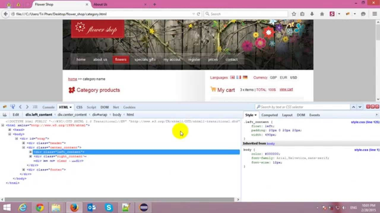 Building Spring MVC Template from HTML Template - YouTube