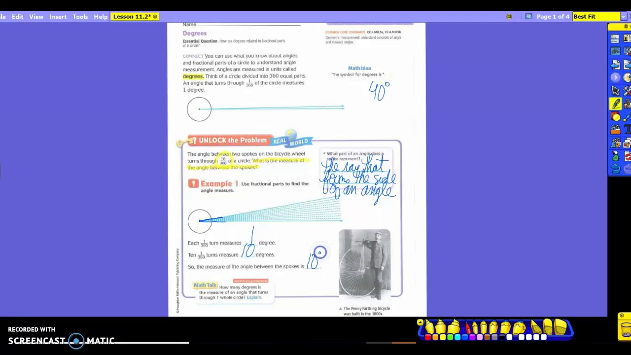 4th Grade Math Lesson 112 Youtube