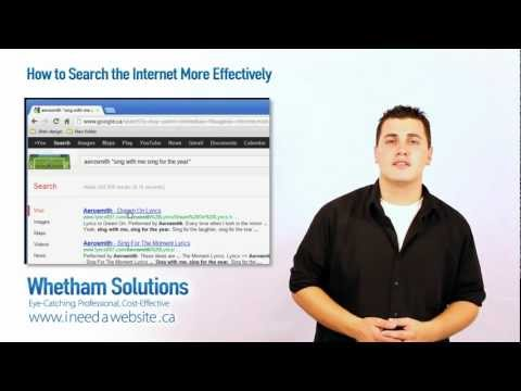 How to Search the Internet More Effectively