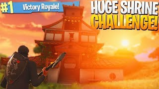 """""""Rich, Win a Game ONLY Looting The Big Shrine"""" - PS4 Fortnite Shrine Challenge Game!"""