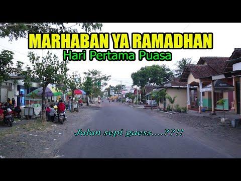 Suasana jalan Ngabuburit Ramadhan 2020 hari pertama