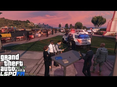 GTA 5 LSPDFR Police Mod 285 | NYPD Captain Patrol | Supervising Two Election Protest In The City