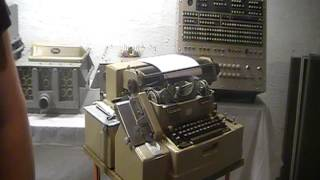 1959 Friden Flexowriter SFD punching a paper tape and reading a tape. Vintage Computer Peripheral