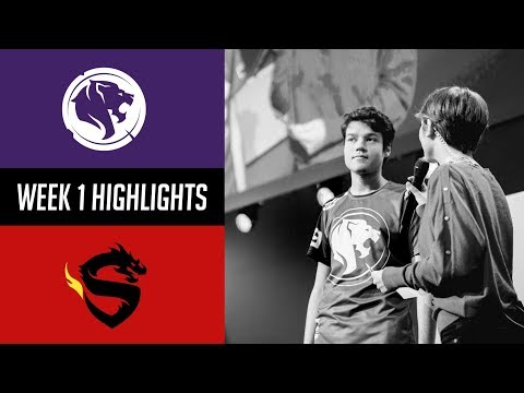 Los Angeles Gladiators vs Shanghai Dragons - OWL Stage 1 Match 1 Highlights
