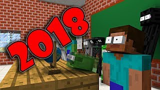 Monster School : Happy New Year 2018 - Minecraft Animation