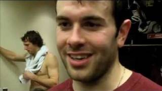 Keith Yandle reacts to Shane Doan hat trick