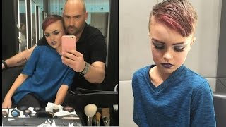 8 Year Old boy gets Drag makeup tutorial @Hodgetwins
