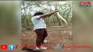 Snake Catcher Killed by Snake Bite in Patancheru | Sangareddy Dist | CVR NEWS