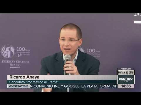 Las propuestas de Ricardo Anaya en la American Chamber of Commerce | Noticias con Yuriria Sierra