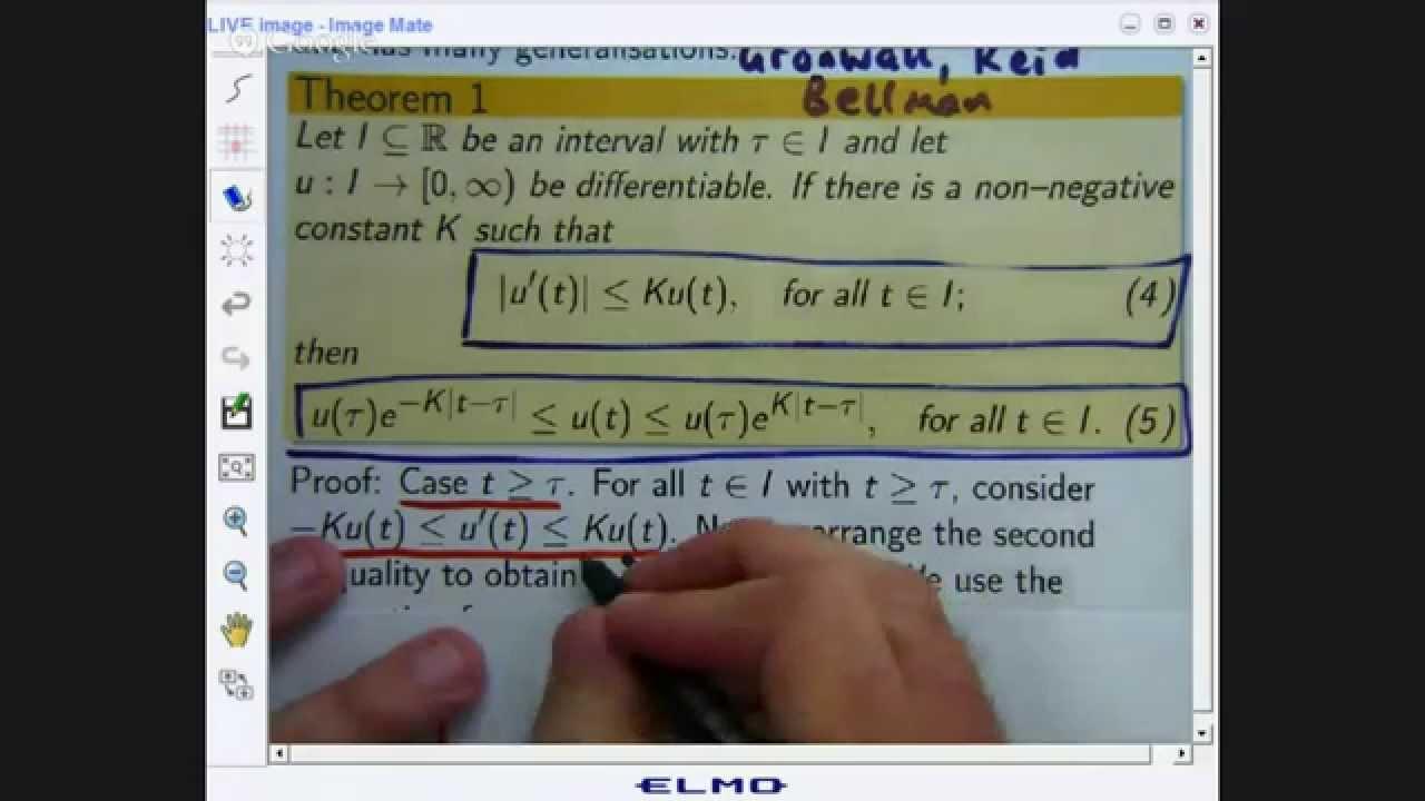 Differential inequalities
