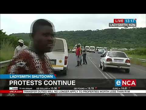 Ladysmith in KwaZulu-Natal is still burning