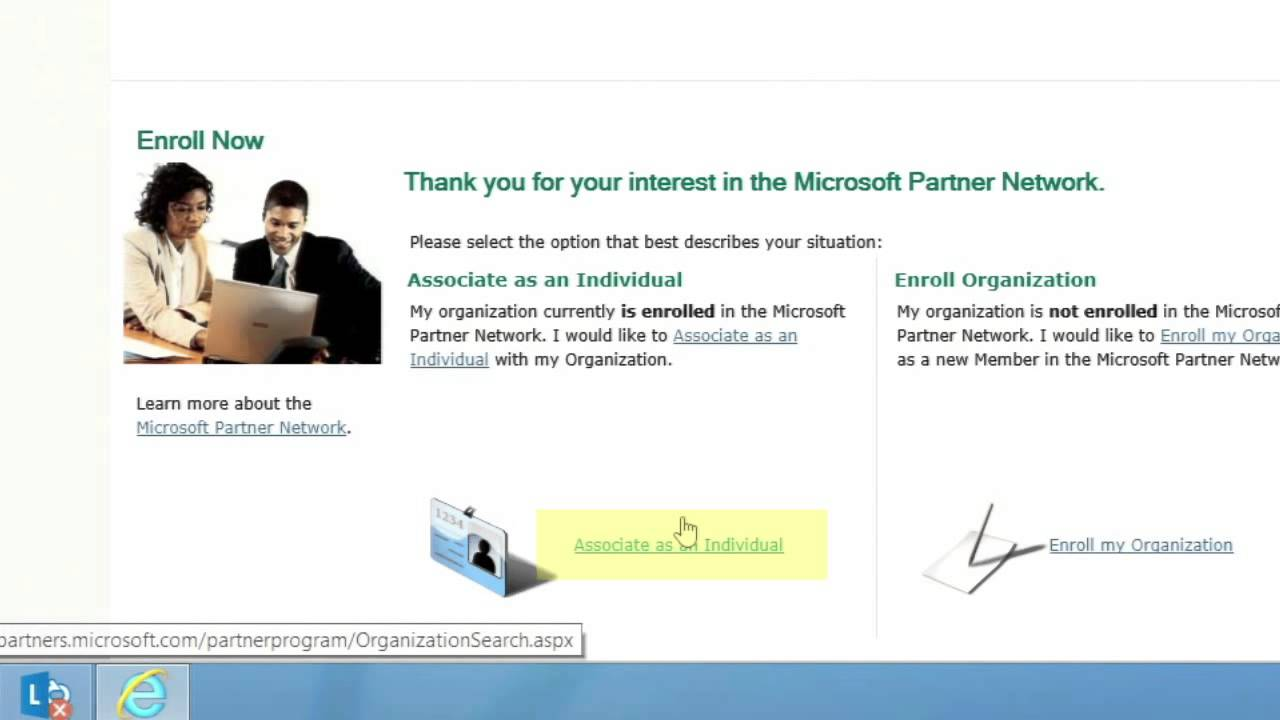 Microsoft Partner Network How To Associate Your Microsoft Account