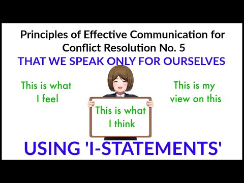Using I-statements in effective communication and conflict