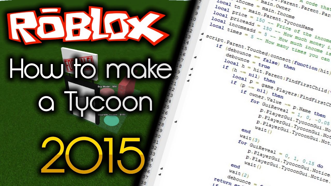 Roblox how to make a tycoon 2015 full tutorial youtube baditri Image collections