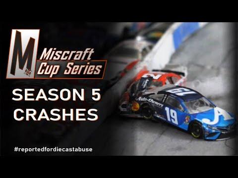NASCAR Stop-Motion Crashes: Miscraft Cup Series Season 5