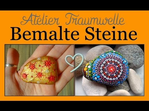 atelier traumwelle bemalte steine youtube. Black Bedroom Furniture Sets. Home Design Ideas