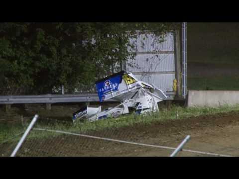 9-9-2016 UMSS Sprints Princeton Speedway Ryan Bowers Challenge Race Flip