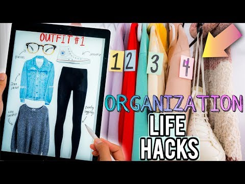 DIY Organization Hacks Every LAZY PERSON Should Know! How to CLEAN Your Room + Be Productive!