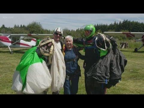 The Morning Rush - Great-Grandma Goes Skydiving To Help Veterans
