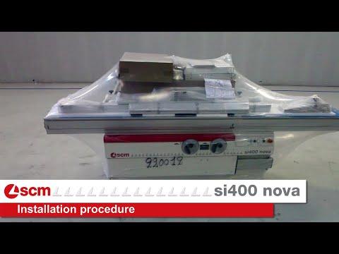 Installation procedure Scm Si 400 nova - Installazione sega circolare