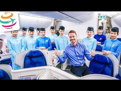 KLASSE! Xiamen Airlines Business Class 787-9 | GlobalTraveler.TV