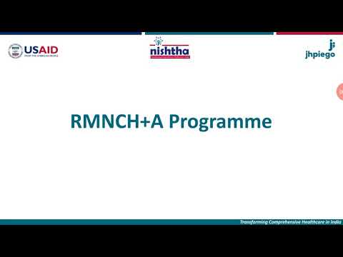 New National Health Programmes  (2.C- RMNCH+A)