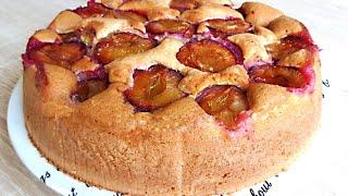Пирог со Сливами - Вкусный, Нежный и Воздушный. Простой быстрый рецепт.