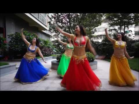 Dance Nagada sang dhol by chinese girls in 2014
