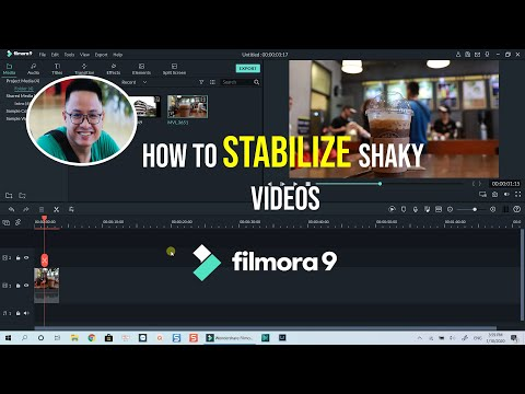 How to STABILIZE a SHAKY VIDEO using Filmora 9