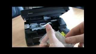 Epson Stylus SX435W: How to set up and install ink cartridges