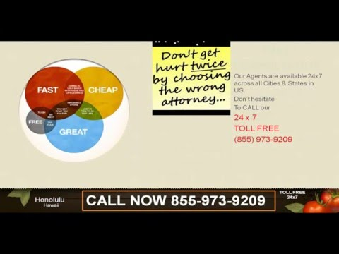 @844-593-1173 Best Auto Accident/Personal Injury Attorney/Lawyer in Honolulu HI