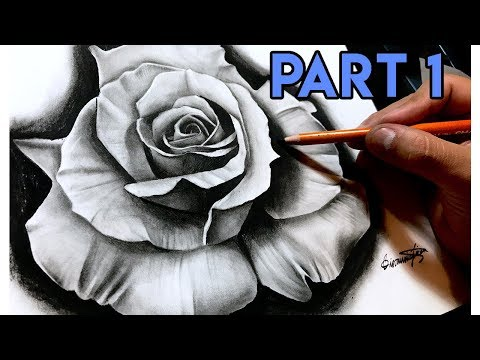 How To Draw A REALISTIC Rose - BEST Tutorial! Part 1