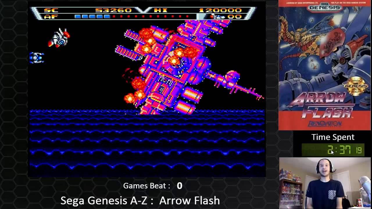 Sega Genesis A Z Arrow Flash Journey To Beat Every Sega