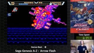 Sega Genesis A Z : Arrow Flash  (journey To Beat Every Sega Genesis Game)