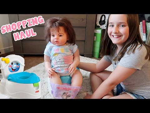 Reborn Toddler Doll Get's A Potty Chair For Potty Training Reborns And Walmart Shopping Haul.