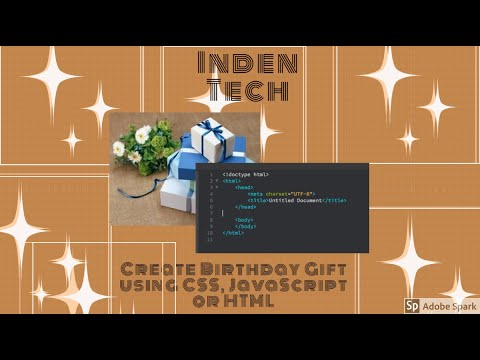 How To Create Birthday Gift Using HTML, CSS Or JavaScript | Create Link Any Folder Or Website |