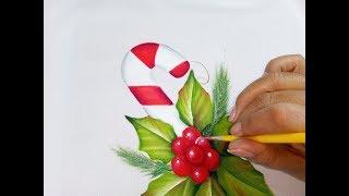 Pintura En Tela Navideña / Christmas Painting Tutorial