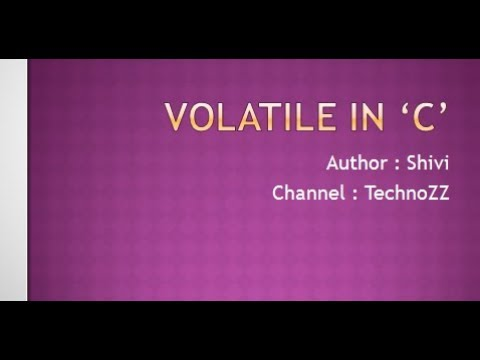 Volatile Keyword In 'C' [ Hindi ] [ हिंदी ]