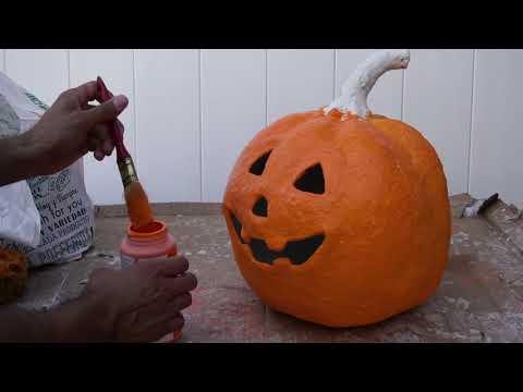 Paper Mâché Pumpkin Timelapse