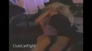 Leg Locked rolling Club catfight in Mini Dresses