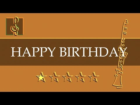 Clarinet & Guitar Duet - Happy birthday (Sheet music - Guitar chords)