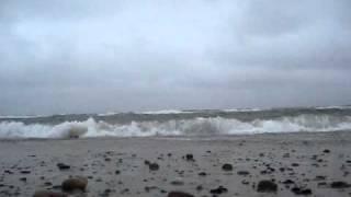 Bølger og hård blæst på Skagen Nordstrand