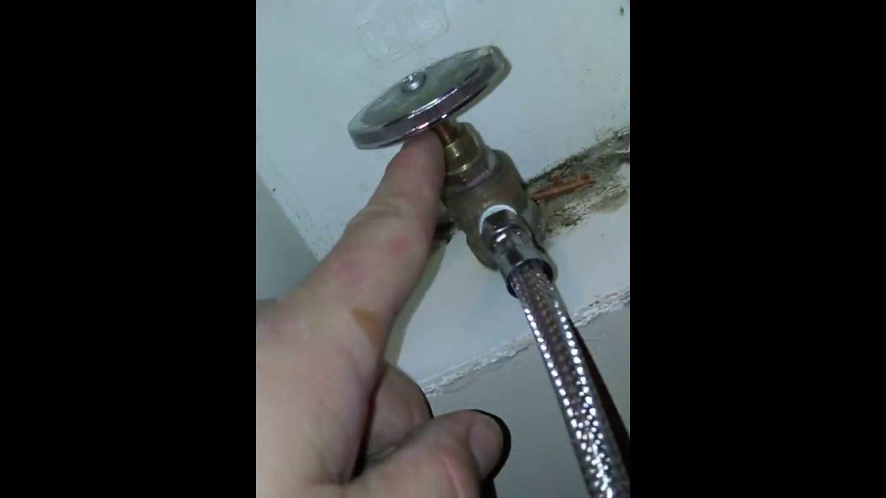 How to easily fix a leaking shut off valve for refrigerator water ...