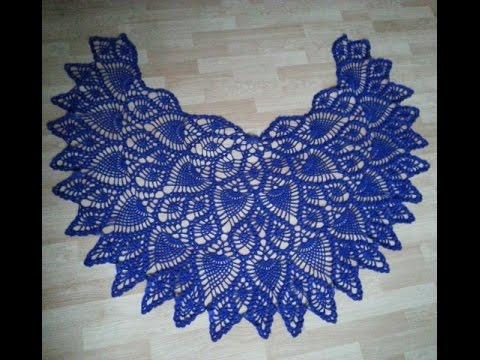 Szydekowa Chusta Wzorem Ananasw Kocowe Zbki Crochet Pineapple