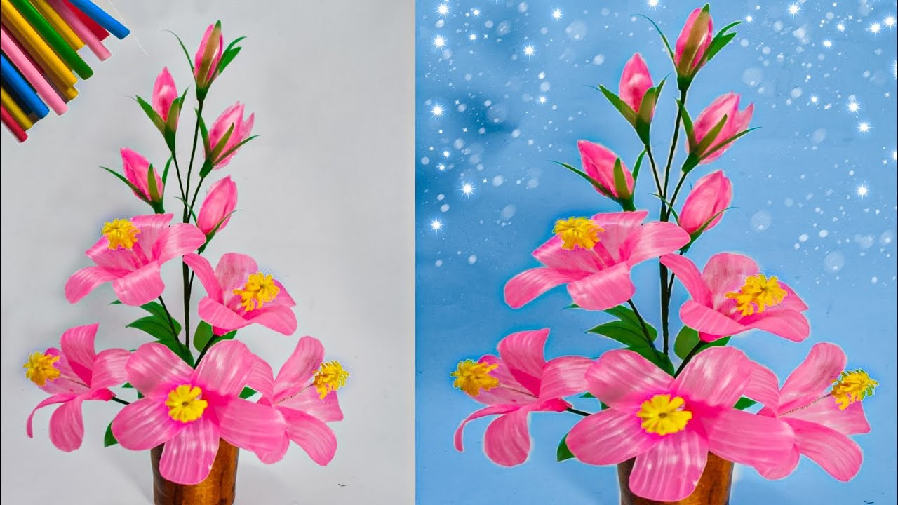 Bahan Gambar Anak Tk Ruang Tamu Cara Membuat Bunga Hiasan Ruang Tamu Dari Sedotan Kreatif Straws Decoration Ideas Youtube