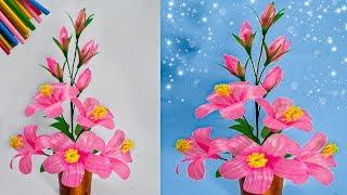cara membuat bunga hiasan ruang tamu dari sedotan kreatif   straws decoration ideas