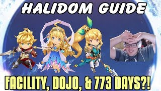 Dragalia Lost: Facility, Halidom & Dojo Guide! 773 Days To Complete All Buildings!