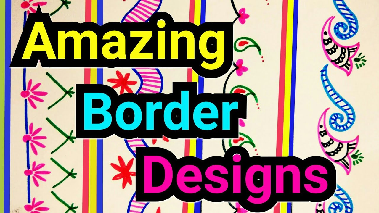 border designs on paper awesome border designs for project file